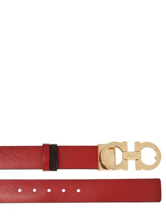 belt leather red