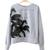 Paradise Is Here Print Grey Sweater