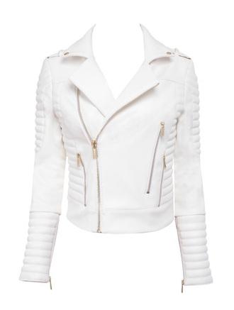 jacket white leather jacket white sweater style fashion fall sweater