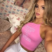 top,sophia mitchell,pink,mermaids don't do homework,tank top,shirt,crop tops,mermaid,jeans