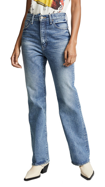 top-rated discount wholesale online Super discount MOUSSY VINTAGE MV Luna Straight Flare Jeans in blue