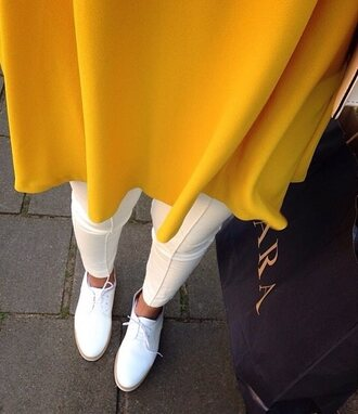 blouse top yellow oversize