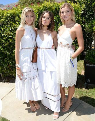 dress white dress summer dress romantic summer dress midi dress olivia culpo lace dress coachella rachel hilbert