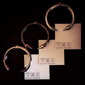 jewels jewel cult jewelry bracelets cuff bracelet spikes designer inspired get the look stacked bracelets spiked bracelet