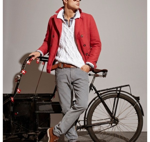 jacket red jacket pants menswear mens jacket