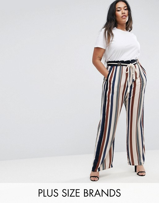 Elvi Stripy Trousers at asos.com