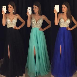 dress blue pink black fast prom dress prom