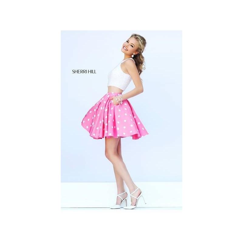 Sherri Hill 32244 Short Crop Top Beaded Prom Dress - Crazy Sale Bridal Dresses Special Wedding Dresses Unique 2017 New Style Dresses