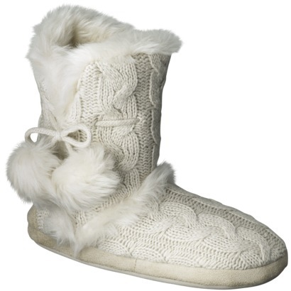Women's Christina Slipper Booties - Ivory : Target