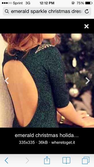 dress emerald christmas dress
