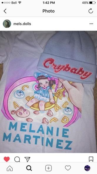 shirt melanie martinez crybaby blue music sound track white cereal