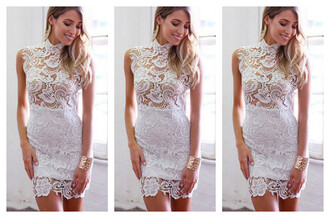 dress sleeveless openwork minidress women
