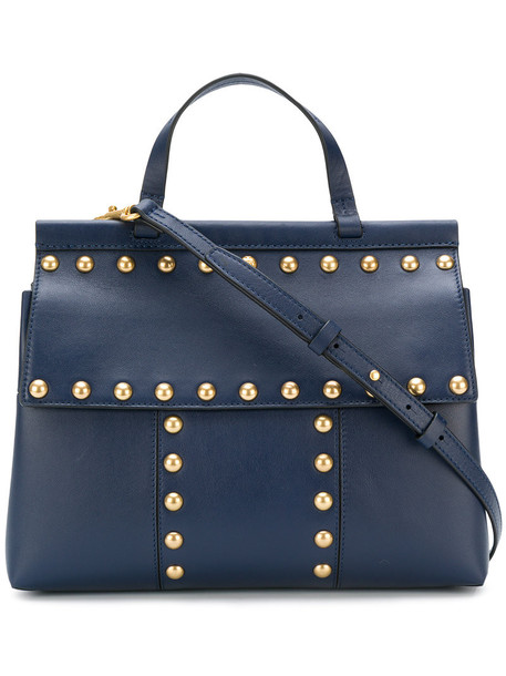 Tory Burch - Block T tote bag - women - Leather - One Size, Blue, Leather