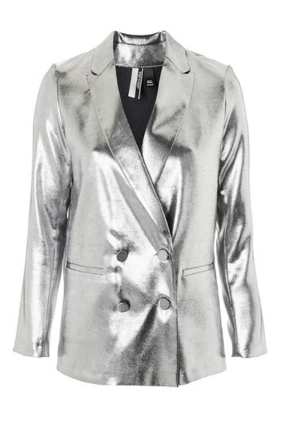 Topshop jacket metallic silver