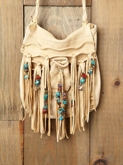 bag fringe boho turquoise white blue aztec fringes bag fringes