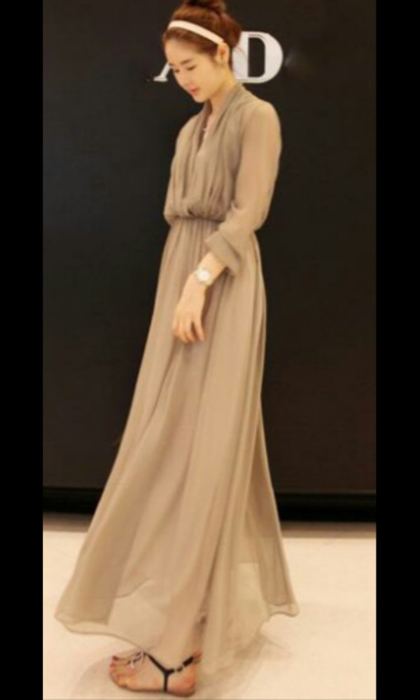maxi dress beige dress summer dress