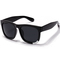 Black metal decor square tinted lenses sunglasses