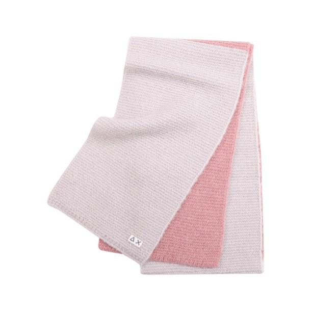 Sun 68 scarf wool pink grey