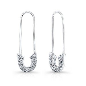 Amazon.com: victoria kay 1/3ct white diamond safety pin earrings in sterling silver (jk, i2