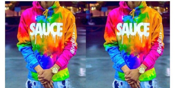 top sweater tie dye sweater dope sweater hoodie sauce sweatshirt dope saucy trendy trippy colorful tide dye sauce hoodie sauce tie dye rainbow neon sweatshirt cute swag jacket graphic tee whereeee pls sauce hoodie multicolor mens hoodie sauce jacket