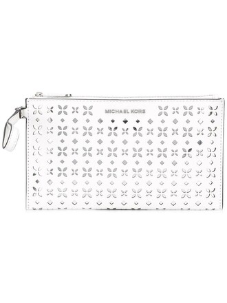 cut-out women clutch pouch white bag