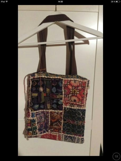 bag colorful hippie boho chic boho bag vintage