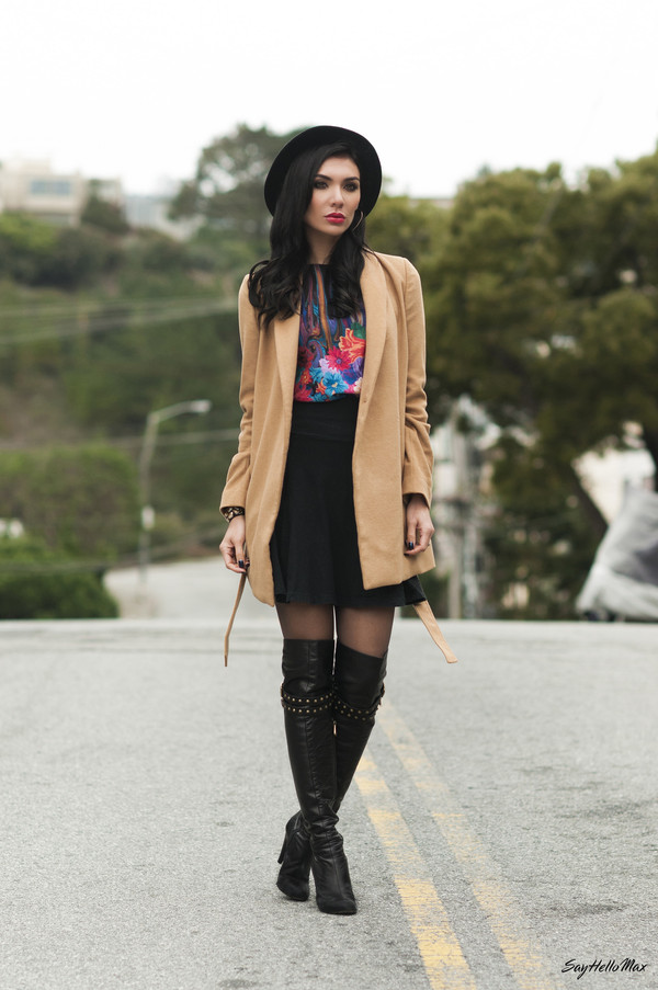 say hello max t-shirt sweater skirt coat shoes hat jewels