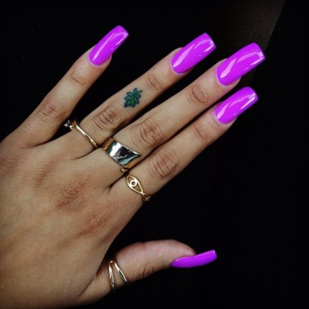 Nail Polish Nails Glossy Shinning Shinny Nails Purple