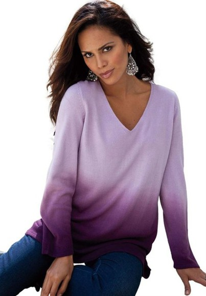 ombre purple sexy-sweaters sweater