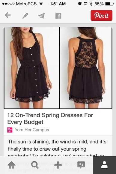 black dresses summer dress cute summer dress lace dress short dress buttons lace top dress