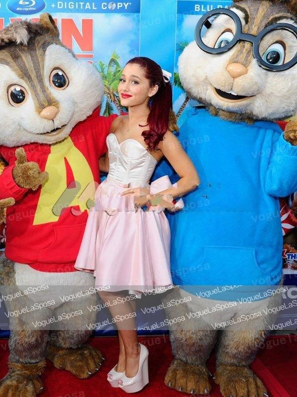 Ariana grande short dress alvin and the chipmunks dvd release concert