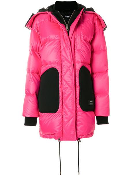 Versus coat oversized women wool purple pink