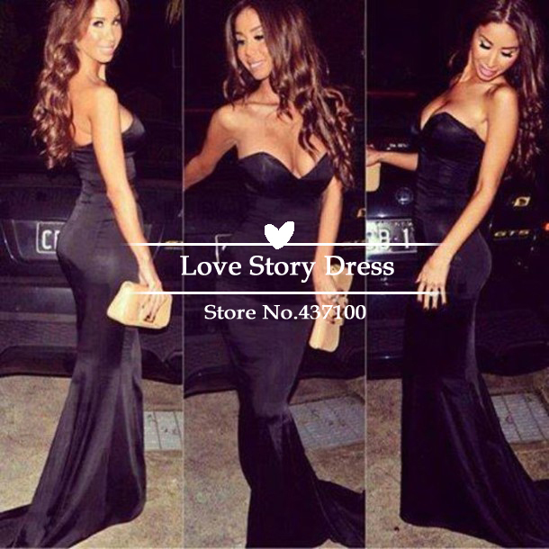 Aliexpress.com : buy charming sweetheart black floor length formal evening gown with long train vestidos de fiesta 2014 prom dresses from reliable gowns for little girls suppliers on suzhou lovestorydress co. , ltd