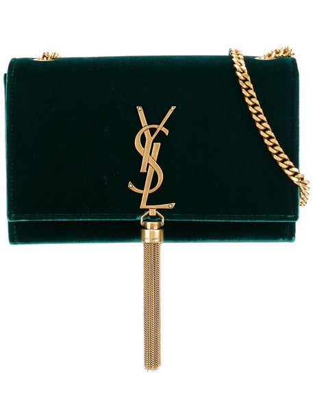 Saint Laurent tassel women bag velvet green