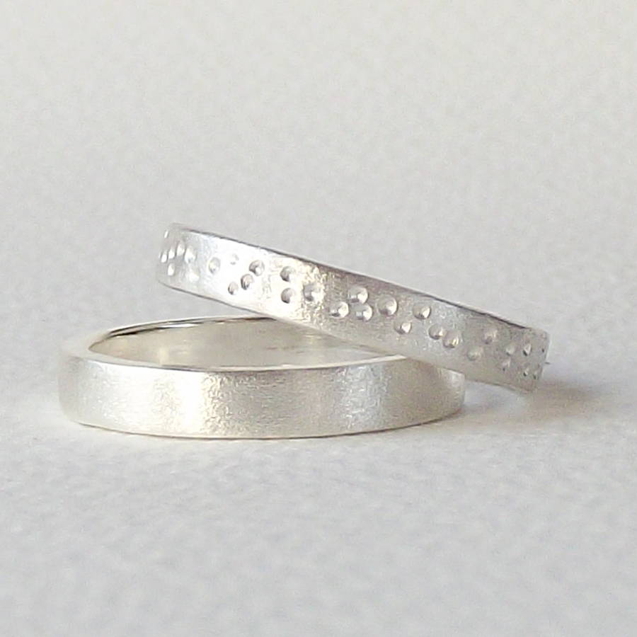 textured simple silver ring by silversynergy | notonthehighstreet.com