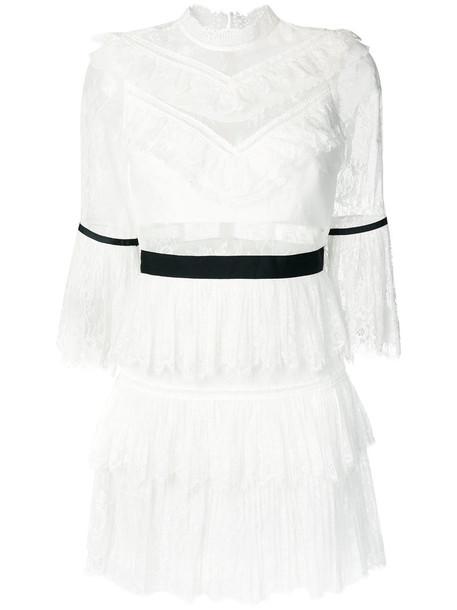 self-portrait dress mini dress mini women lace white