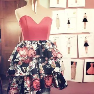 dress jolie flowers floral fleurie rose mignon classe
