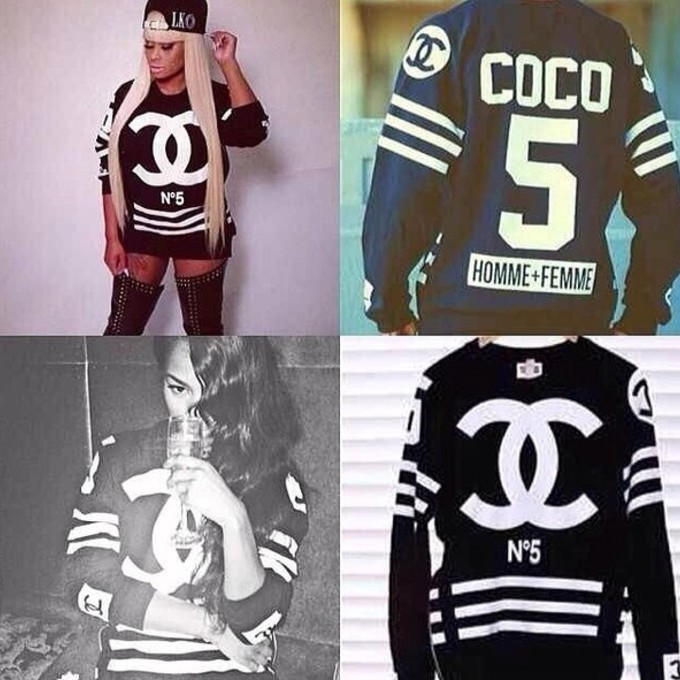 coco sweater coco sweater chanel purse black channel no5 sweater blackchyna hockey jersey coco. Black Bedroom Furniture Sets. Home Design Ideas