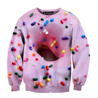 sweater donut sprinkles cool