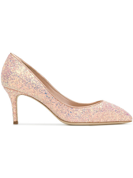 GIUSEPPE ZANOTTI DESIGN glitter women pumps leather purple pink shoes