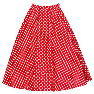 skirt vintage dot white polka dots