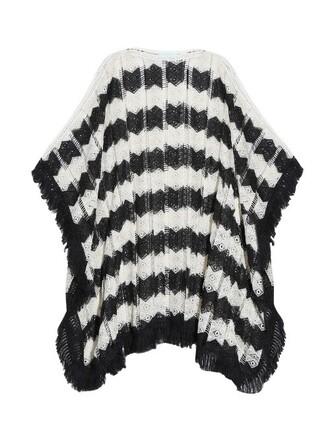 crochet white black top