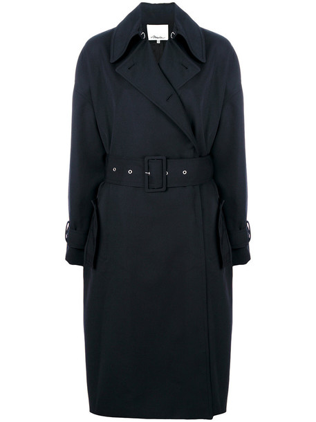 coat trench coat women blue wool