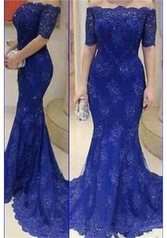 dress beautiful prom dresses prom dress fashion lace off the shoulder beautiful royal blue discount fashion dress lady girl fashion gown