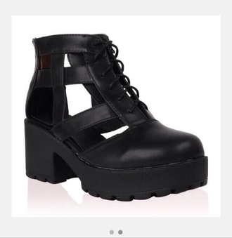 Black Cut Out Boots - Shop for Black Cut Out Boots on Wheretoget