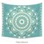 Boho medallion warm teal Tapestry