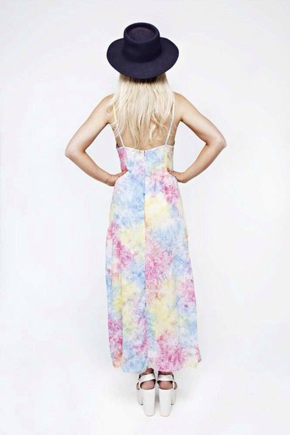 Dress Her Pony Festival Tie Dye Pastel Maxi Wheretoget