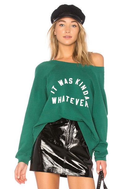 Wildfox Couture sweatshirt green sweater