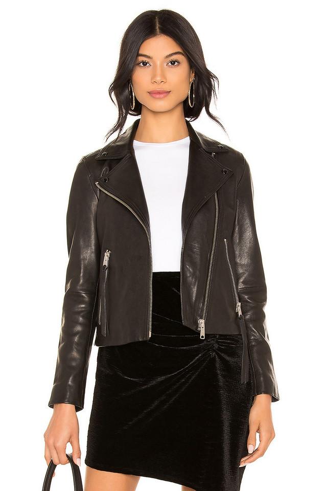 ALLSAINTS Dalby Leather Biker Jacket in black