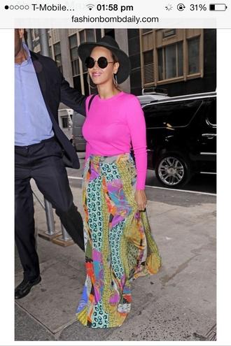 skirt beyonce maxi skirt fashion